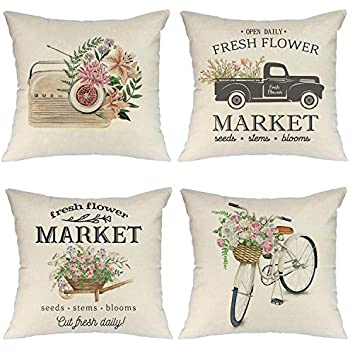 Amazon.com: VANCOVER - Juego de 4 fundas de almohada de lino ...