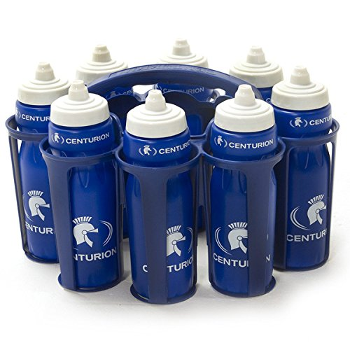 Centurion Team 8 Water Bottles and Carrier  blueee