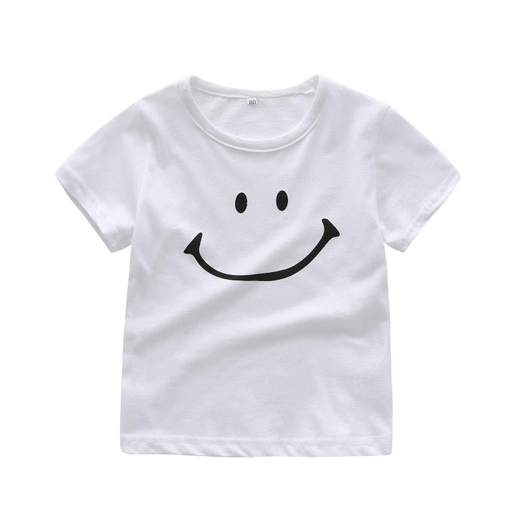 TIANRUN Infant Toddler Girls Boys Short Sleeve T-Shirt Tee 0-24 Months Summer Clothes Smile Cartoon Tops