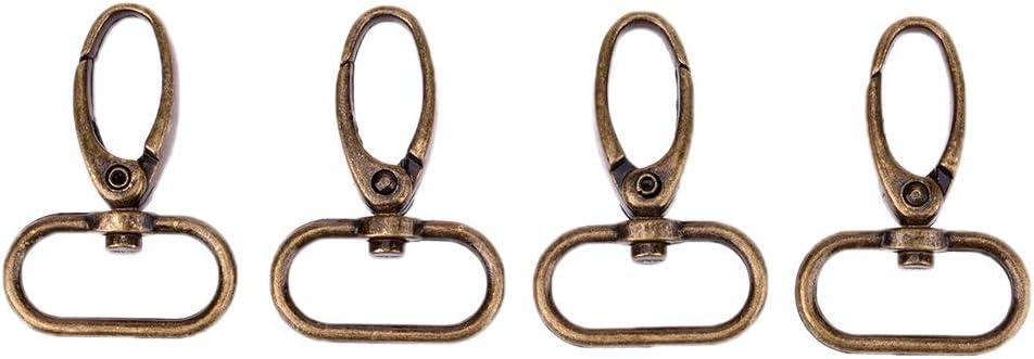 Broadroot 4pcs retro Style bronzo antico finitura bagaglio fibbia chiusura moschettone 2.0CM