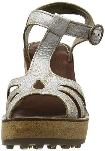 Pearl Off 048 London White Fly Gold Sandals Wedge WoMen X0Hq8fw