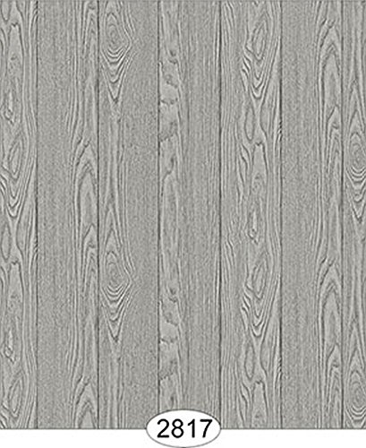 Dollhouse 1:12 Scale Wallpaper - Finished Wood - Grey