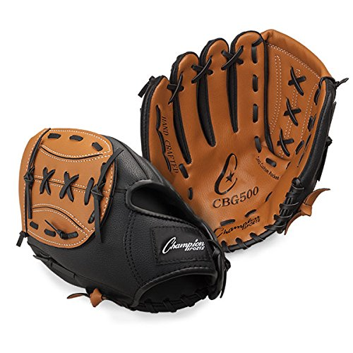 (Champion Sports Leather Front Vinyl Back Fielder's Glove (Right-Handed, 13-Inch))