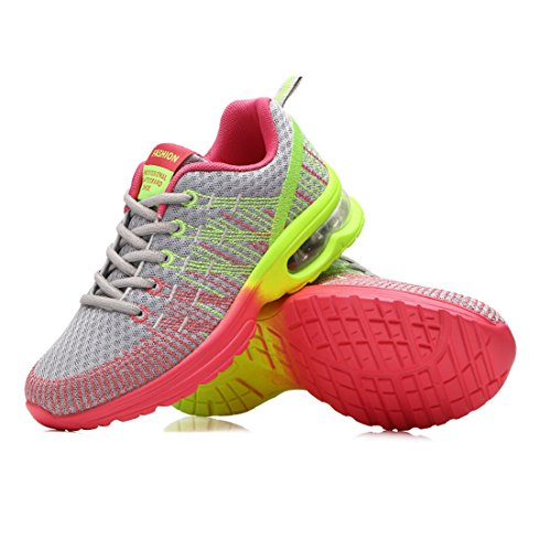 Athletic Shoes Sports Mesh Grey Jiyaru Breathable Shoes Sneakers Running Womens 5vUqZU4