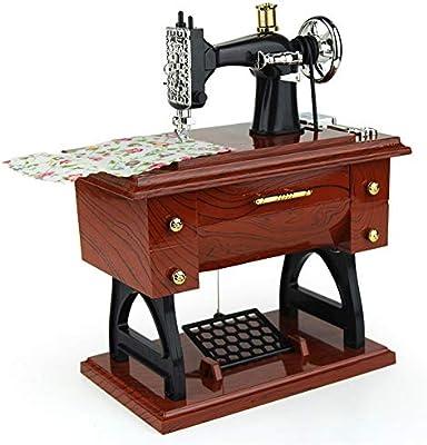 Vaxiuj-DECOR Máquina de Coser Vintage Caja de música Regalo de ...