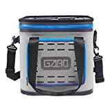 GZLBO Soft Cooler with High-Density Insulation Soft Waterproof Cooler,Soft Pack Cooler Bag With Light,Gray,24Can