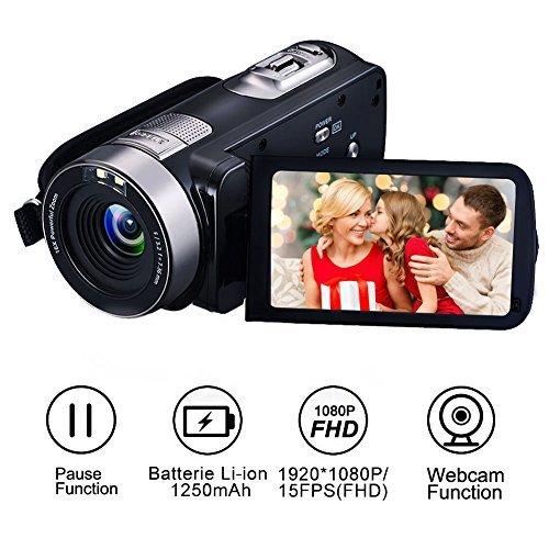 Camcorder Camera Full HD 1080p 24.0MP Digital Video Webcam R