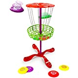 Deluxe Family Disc Golf Game Set with 8 Discs - Includes Bonus Pop Toob!