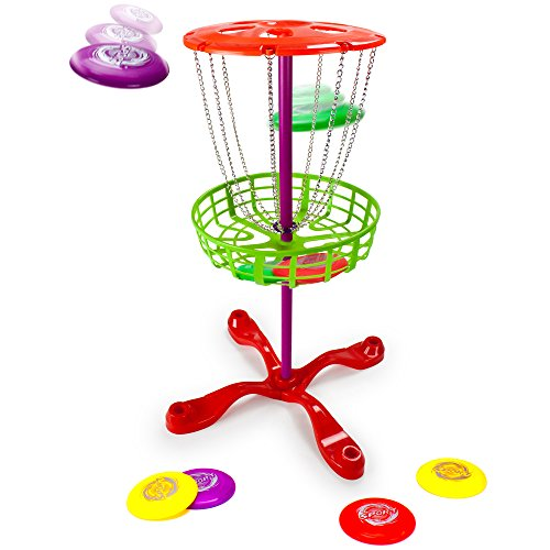 Deluxe Family Disc Golf Game Set with 8 Discs - Includes Bonus Pop Toob! by Kroo