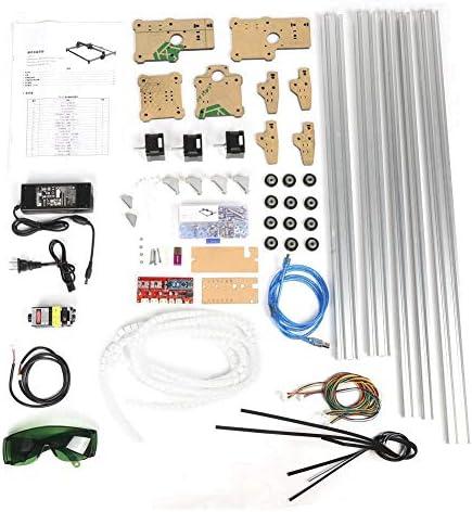 彫刻切断機、100-240VAC 1000mW DIYミニデスクトップ彫刻プリンターキット(米国のプラグ)