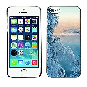 TopCaseStore / la caja del caucho duro de la cubierta de protección de la piel - Nature Winter Snow Tree - Apple iPhone 5 / 5S