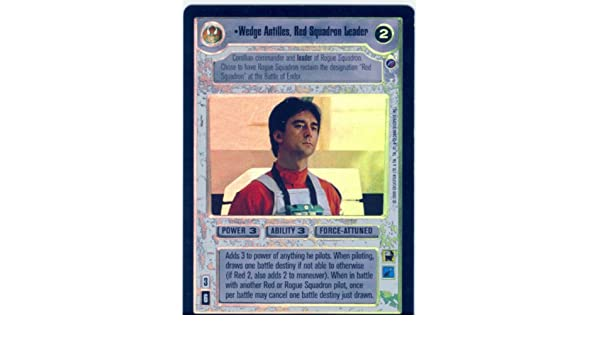 Red Squadron Leader Star Wars CCG Reflections II 2 Foil Wedge Antilles