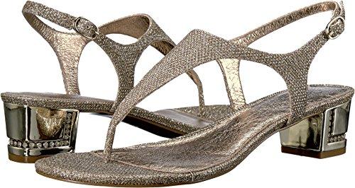 Adrianna Papell Women's Cassidy Flat Sandal, Platino, 7.5 M US