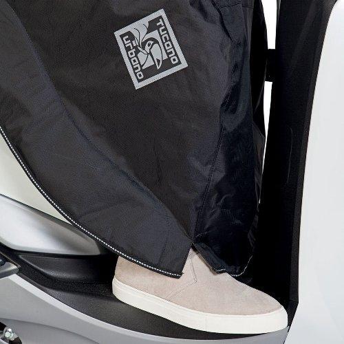 Compatible con Sym Jet 4 125 cubrepiernas Tucano Urbano R194-N Linuscud Manta t/érmica para endosar Universal para Scooter cubrepiernas 100/% Impermeable Naranja Negro