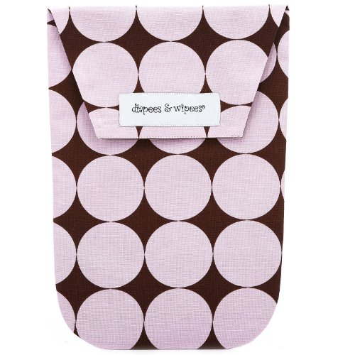 - Diapees and Wipees Diaper Bag - Pink Disco Dot