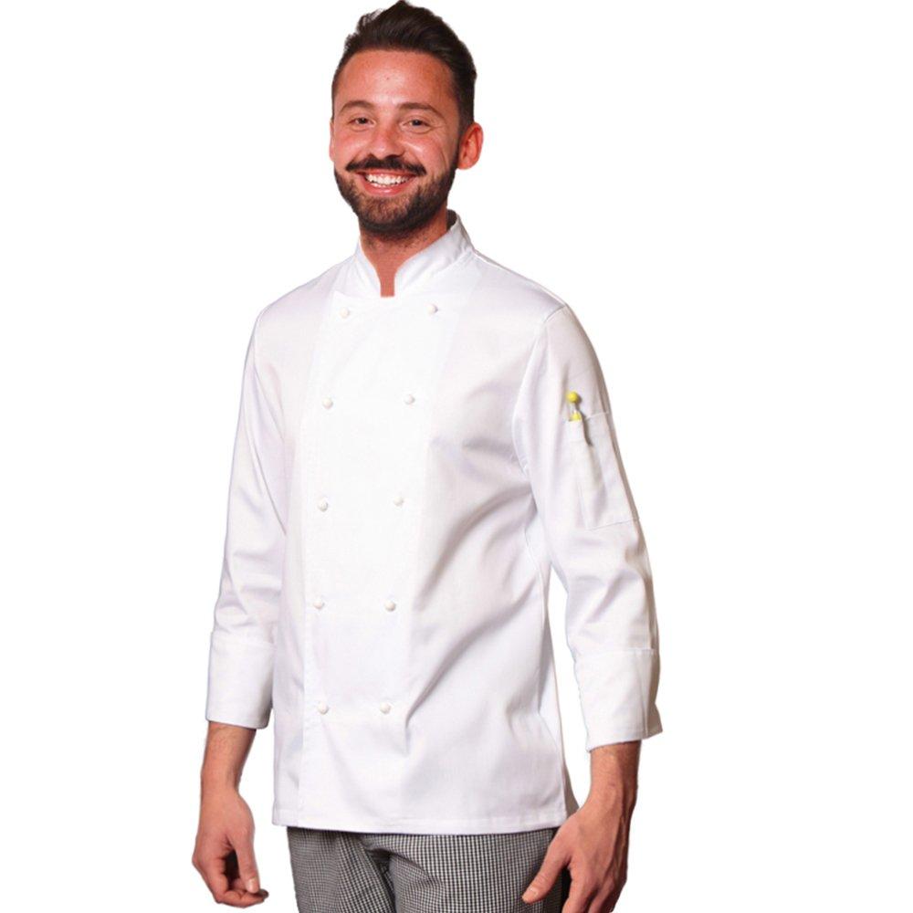 TRENDY LINE Giacca da Cuoco Chef Cotone Bianca con Bottoncini