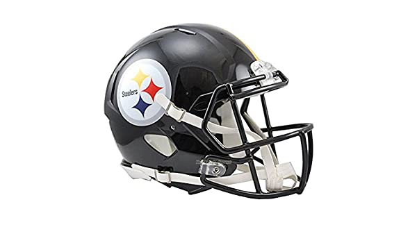 42ee32b1e3cd2 NFL Pittsburgh Steelers oficial Mini réplica casco - 13 cm de alto   Amazon.es  Hogar