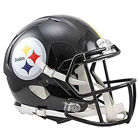 NFL Pittsburgh Steelers oficial Mini réplica casco - 13 cm de alto: Amazon.es: Hogar