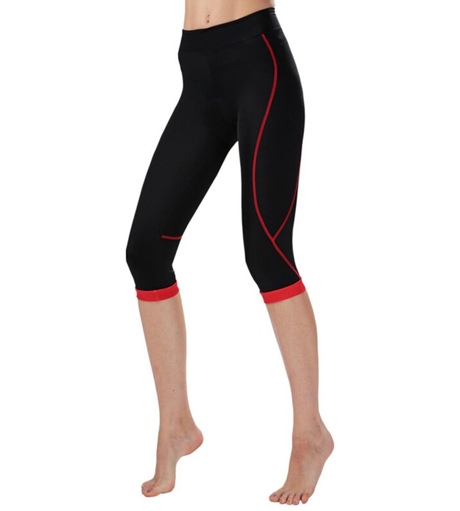 Uriah Women's Cycling Capri Pants Compression Tights 3D Gel Padded Cheji