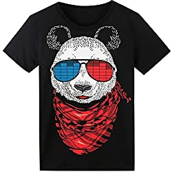 Panda T-Shirt Sound Activated Glow Light up Equalizer