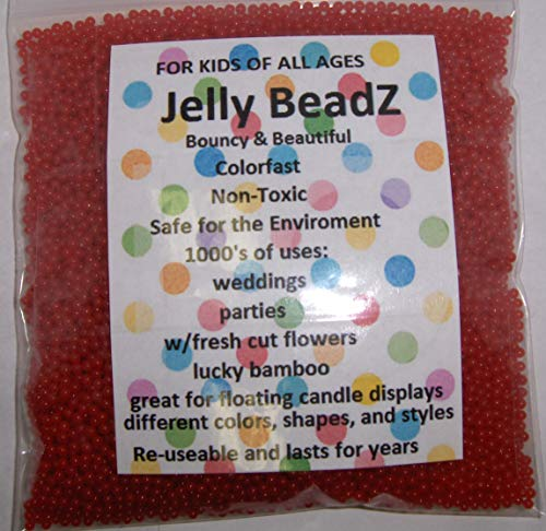 JellyBeadZ Brand Water Bead Gel - 8oz -Almost 15,000 Coral - Heat Sealed Bag- Water Pearls Gel Beads- Wedding & Event Centerpieces