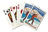 Crystal Mountain, Washington - Skier Carrying Snow Skis (Playing Card Deck - 52 Card Poker Size with Jokers)