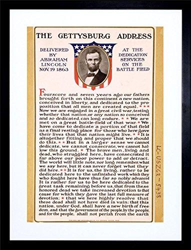 WAR American Civil Lincoln Gettysburg President Art Framed Art Print F12X1833