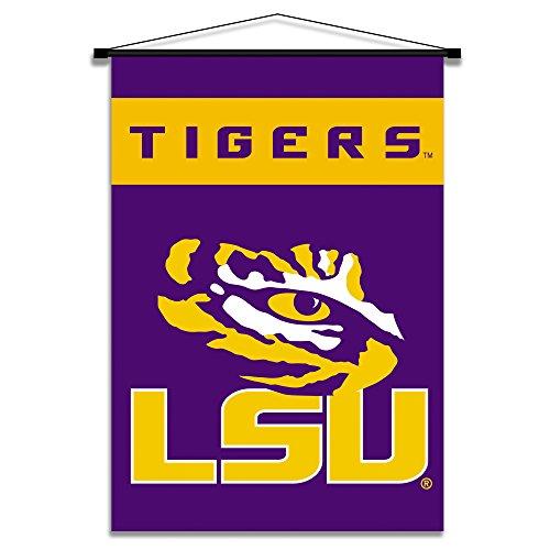 (NCAA LSU Tigers Indoor Banner Scroll, 3' x 5', Purple )