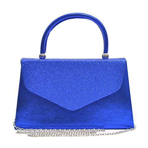 Party with Frosted Cocktail Purses Women's Royal Handbags Prom Clutches Dasein Evening Bags Glittering Blue Wedding pntvPSqx