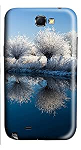 Samsung Galaxy Note II N7100 Cases & Covers - Snow Tree Reflection PC Custom Soft Case Cover Protector for Samsung Galaxy Note II N7100