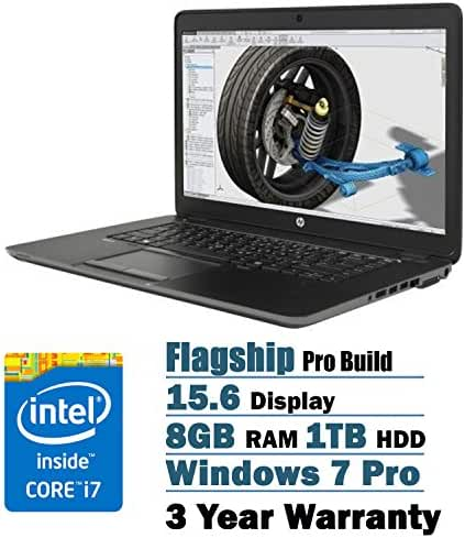 HP ZBook 15.6-Inch Full HD Laptop PC Flapship Edition Intel Core i7-5500U Dual-Core AMD FirePro M4170 (1GB GDDR5 Dedicated Video) 8GB 1TB Backlit Keyboard Windows 7 Professional