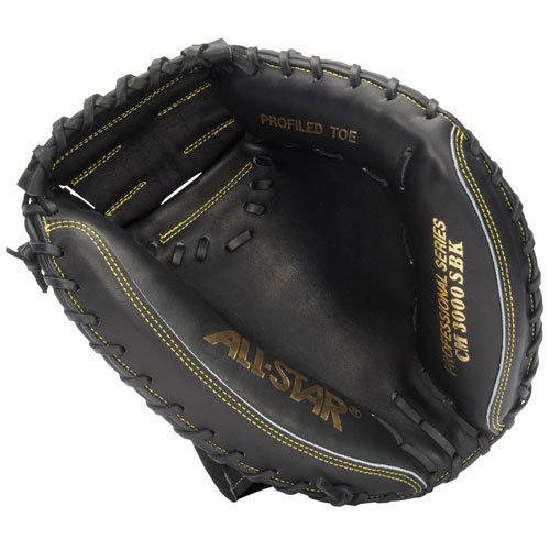 All-Star Pro Elite Catchers Baseball Gloves Closed Black 33.5 Right (All Star Catchers Mitts)