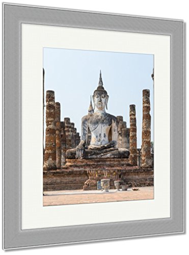 Ashley Framed Prints Ancient Ancient Buddha Statues In The Ancient Thai Capital Of Ayutthaya In The, Wall Art Home Decoration, Color, 40x34 (frame size), Silver Frame, AG5264815 by Ashley Framed Prints