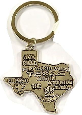 Llavero de Metal estado de Texas