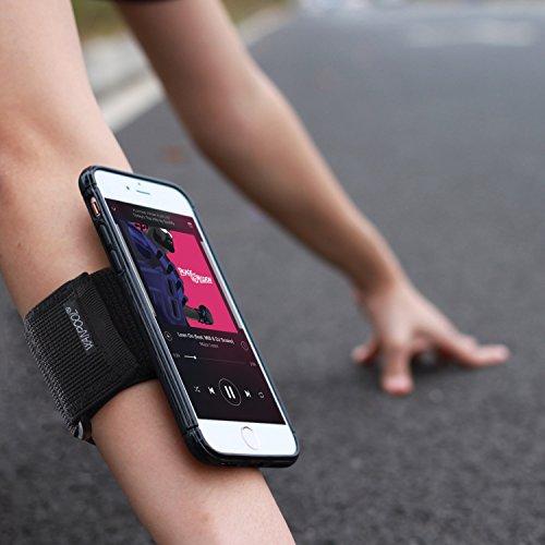 [해외]WANPOOL 스포츠 암밴드 for iPhone (블랙) - 오픈 페이스 암밴드 / 팔찌 밴드 홀더, 표준 스트랩을 포함하여 11-20 Arm Circumferences & amp; /WANPOOL Sport