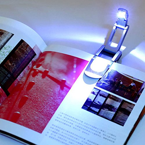 Zehui Portable Clip-on Reading Lamp Automatic Pop Up Desk Light Foldable LED Book (Bitty Book Light Led)
