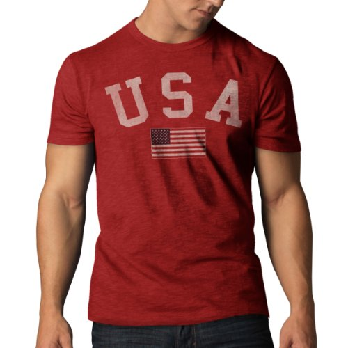 (United States Men's '47 Vintage Scrum Tee, Rescue Red, XX-Large)