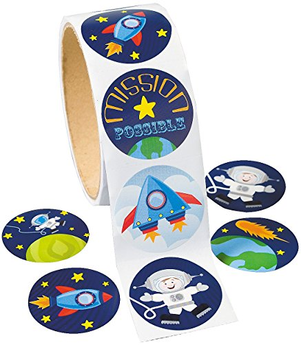 Space Stickers 100 Pack Paper
