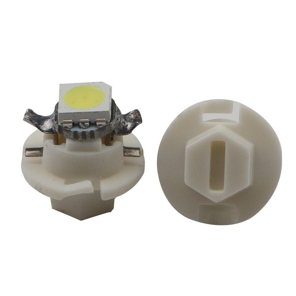 Grandview 10pcs Blanco T5 B8.4 Bombillas del Tablero de Instrumentos 5050 1-SMD Para Aire Acondicionado del Automóvil Luz del Instrumento Luz de Posición ...