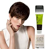 Bundle - 4 Items: Bo Mono Wig By Ellen WIlle, Christy's Wigs Q & A Booklet, BeautiMark Synthetic Shampoo & Wide Tooth Comb - Color: snow mix