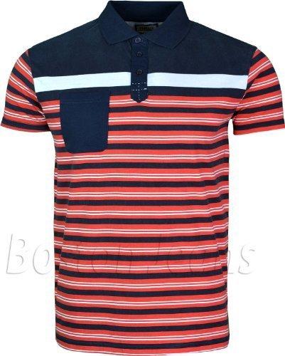 para Hombre Polo Camisas de diseño con diseño de Rayas y Bolsillo ...