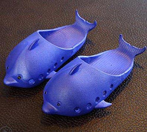 Summer Oscuro Dolphin oscuro Koala Superstore Cerrado Home Zapatillas azul de Slippers Baño Antideslizante Semi Cute Azul OqxSBxI