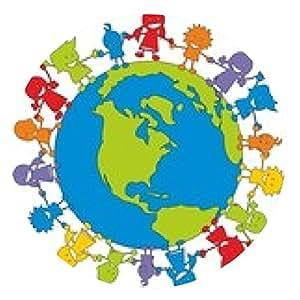 alfombrilla de ratón Los niños en la acción ~ ~ Niños Niños - Tierra V2 - ronda - 20cm