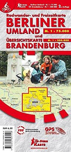 Berliner Umland und Übersichtskarte Brandenburg: Radwander- und Freizeitkarte