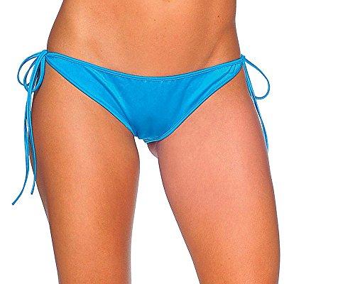 BODYZONE Apparel Women's Tie Side Scrunch Back Bikini Panties. M/L. ()