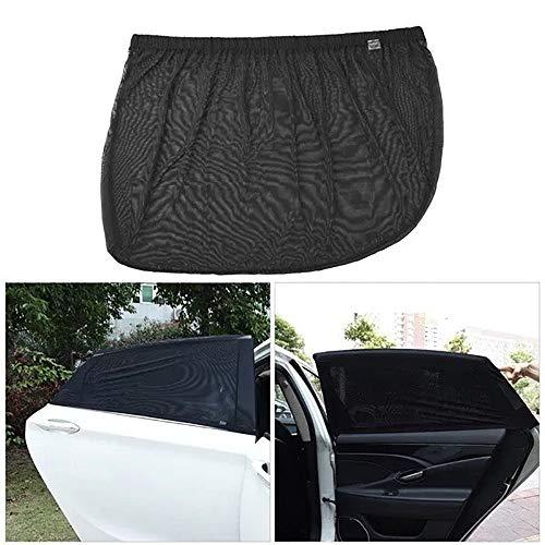 (YaMeiDa 2019 Upgrade Version Car Window Shade Net, Breathable Mesh Car Window Shade Net Protect Kids Pet from The Sun - 1 Set/4Pack)