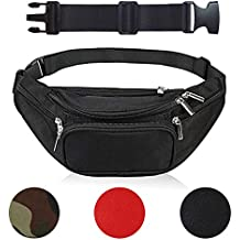 Fanny Pack Men Women Waist Bag Adjustable Belt Large Capacity Waist Pouch 5 Pockets Hiking Cycling Running Training