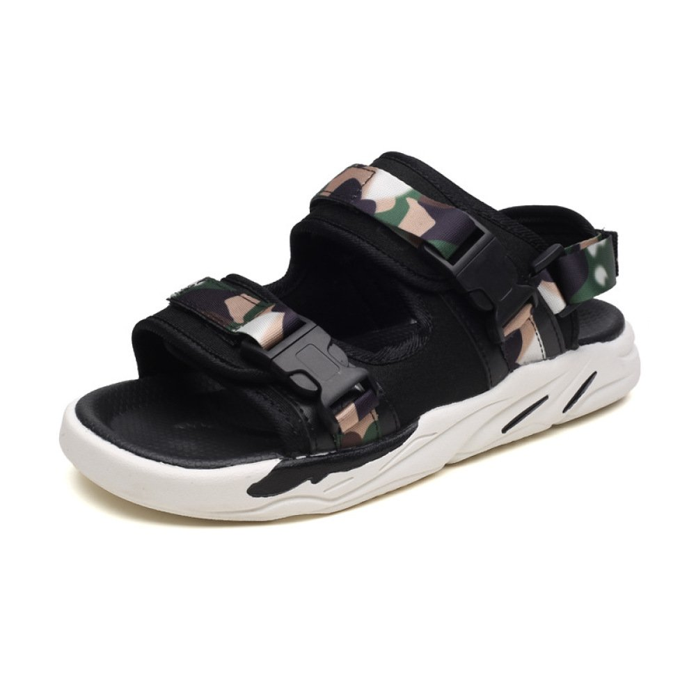 Los Hombres Las Sandalias Adolescente Moda Zapatillas Cómodas Antideslizantes Zapatos De Playa Transpirables 42 EU|Camouflage