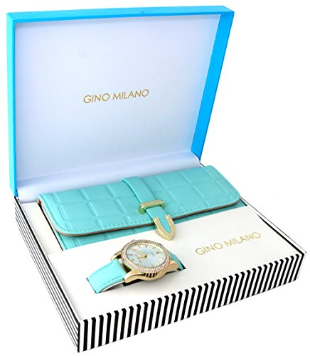 Ladies Wallet Sets with Matching Watch -Mint (Milano Ladies Fashion Watch)