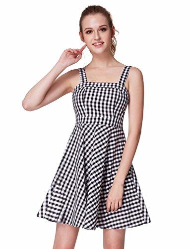 Girls Black White Smocked Dress (Alisapan Alisa Pan Slim Fit Swing Dresses For Women 6US White and Black)
